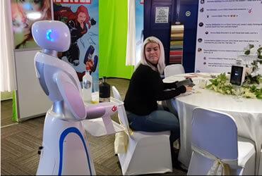 amy waitress robot rental